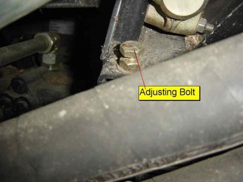 Shoe Pivot Stop Bolt