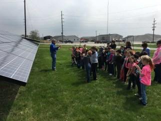 1st Graders Solar Visit 4-22-16 2