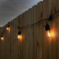 Newhouse Lighting 48-Foot Outdoor String Lights, LED Bulbs ...