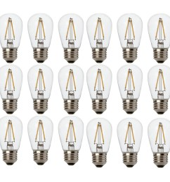 newhouse lighting outdoor weatherproof 2w s14 led replacement string light bulbs standard base 18 [ 3000 x 3000 Pixel ]