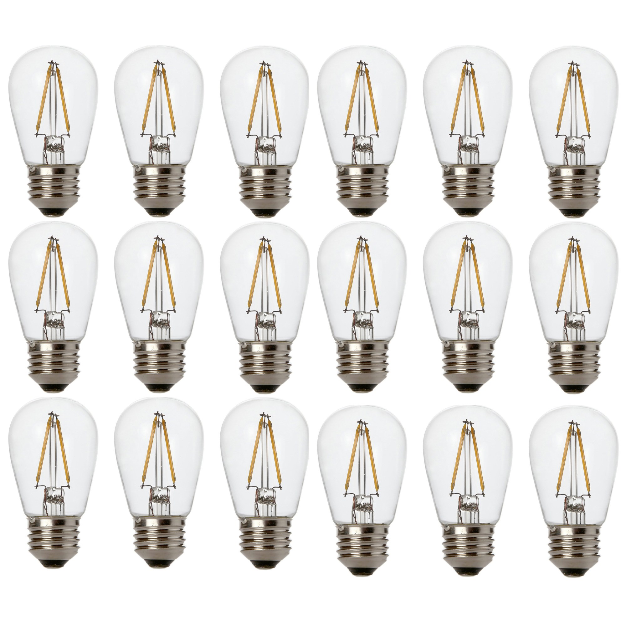hight resolution of newhouse lighting outdoor weatherproof 2w s14 led replacement string light bulbs standard base 18