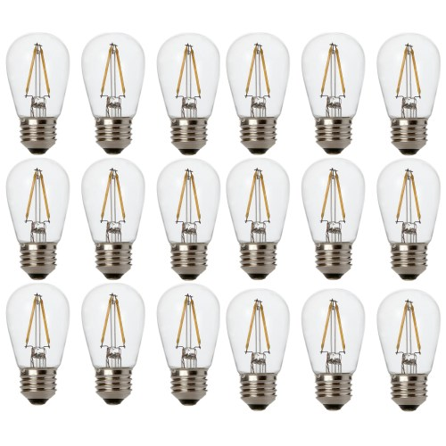 small resolution of newhouse lighting outdoor weatherproof 2w s14 led replacement string light bulbs standard base 18
