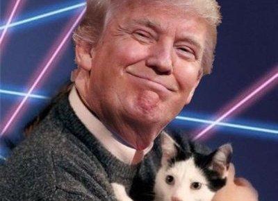 Trump with Cat