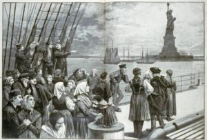 New York City was home to Ellis Island, the location in which immigrants were to be processed for clearance to enter the country.