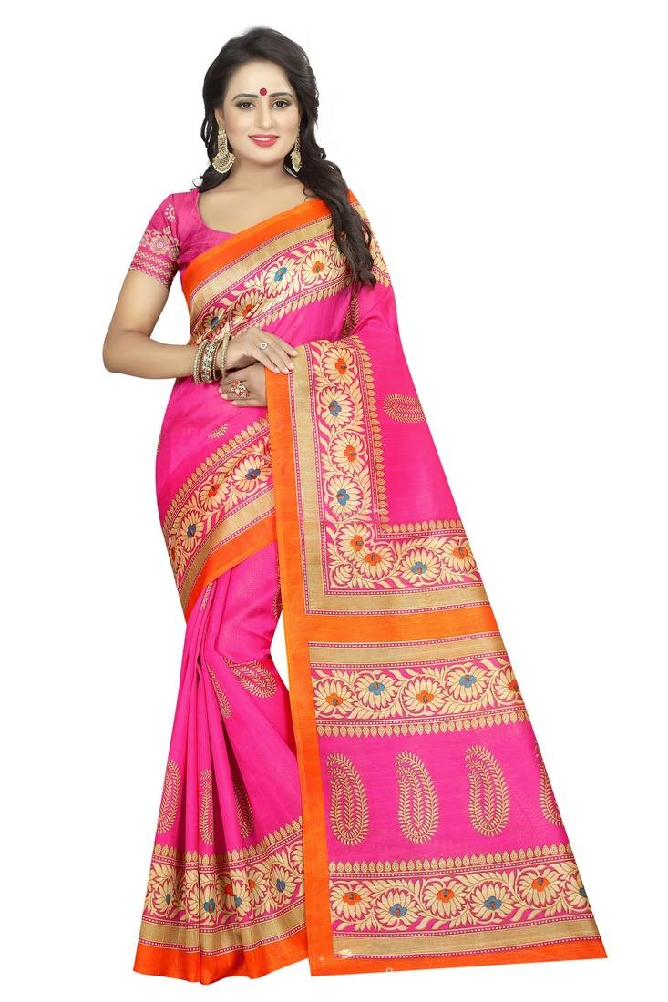 Fashion Shop Latest Pink Colour Sarees Online From Mirraw