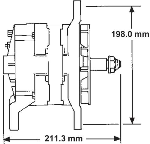 26SI / 21SI alternator specifications :: Delco Remy