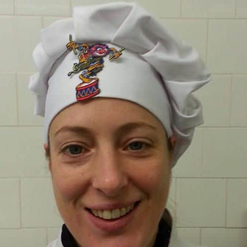 Claire, chef and fish fryer