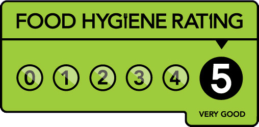 Five Star Food Hygiene Award by Thanet Council