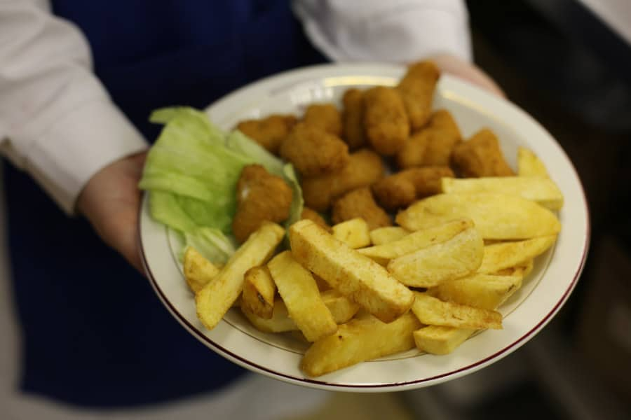 Nutritional information about fish and chips