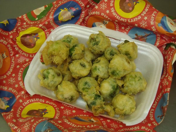 festive battered brussel sprouts