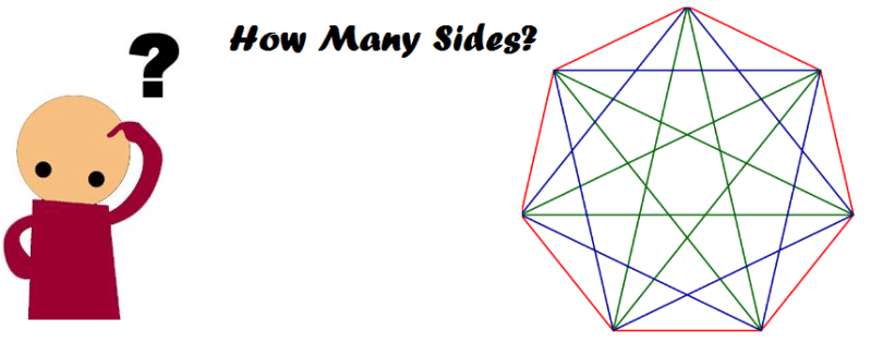 How many sides does a heptagon have