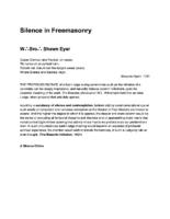 Silence in Freemasonry