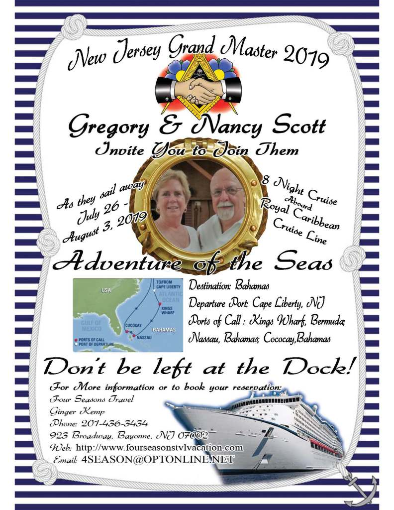 Grand Lodge of New Jersey – 2019 Grand Master's Cruise