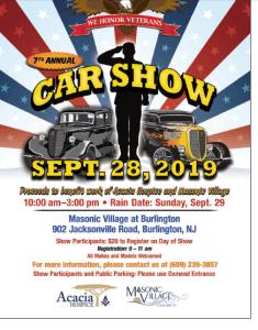Annual Car Show @ Masonic Village at Burlington