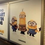 Ein U-Bahnhof voller Minions