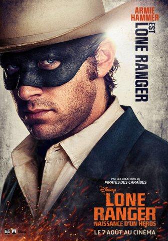 Lone Ranger - Affiche Armie Hammer