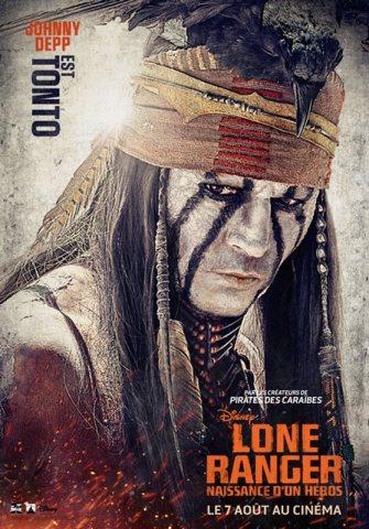 Lone Ranger - Affiche Johnny Depp