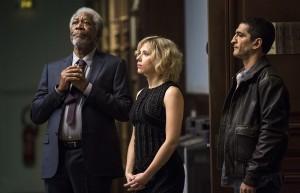 Lucy - Photo Amr Waked, Morgan Freeman, Scarlett Johansson