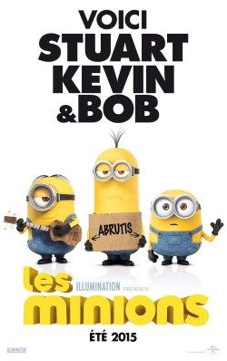Stuart, Kevin et Bob font de l'autostop