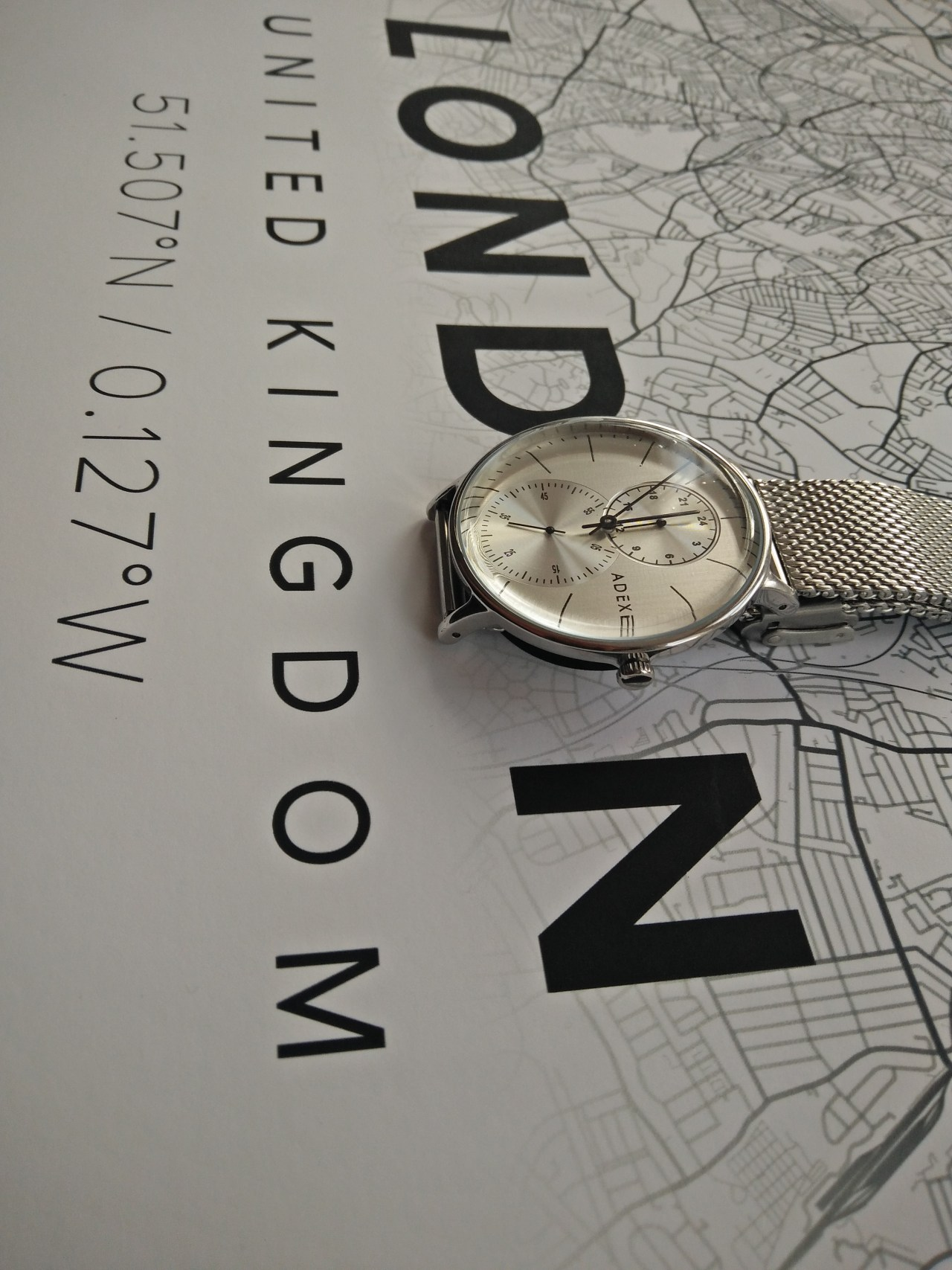 ADEXE Watches London Foreseer Grander Silver