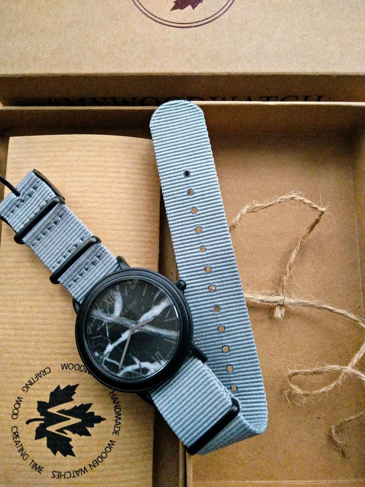 Affordable Wood Watch with Marble dial