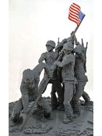 Iwo Jima replica made from Lego