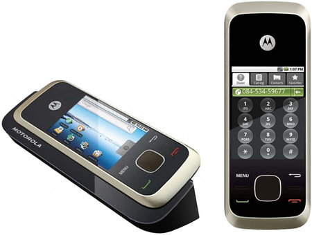 Motorola HS1001 is a landline phone with a touchscreen