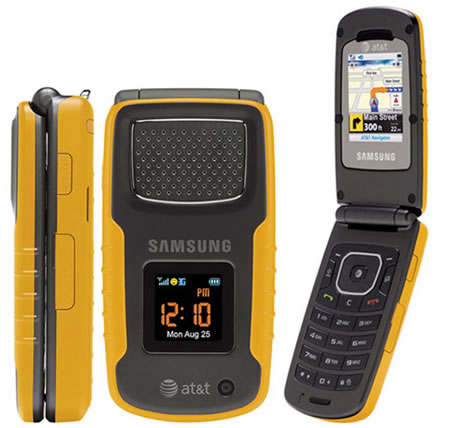 Samsung Rugby an all weather clamshell phone