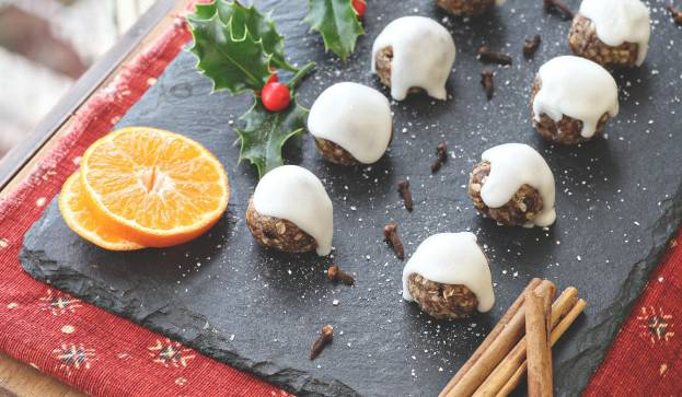 Photo of Go Faster Foods' Christmas GoBites, with New Life Classes