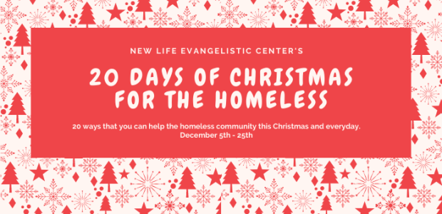December 5th is the launch of our 20 Days of Christmas for the Homeless. The 20 Days of Christmas for the Homeless is about ways that you can physically help the homeless as well as help with in-kind and cash […]