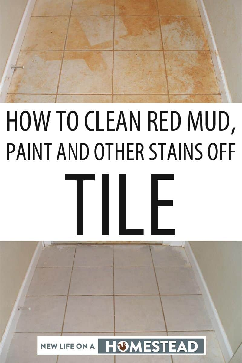 how to clean red mud paint and other