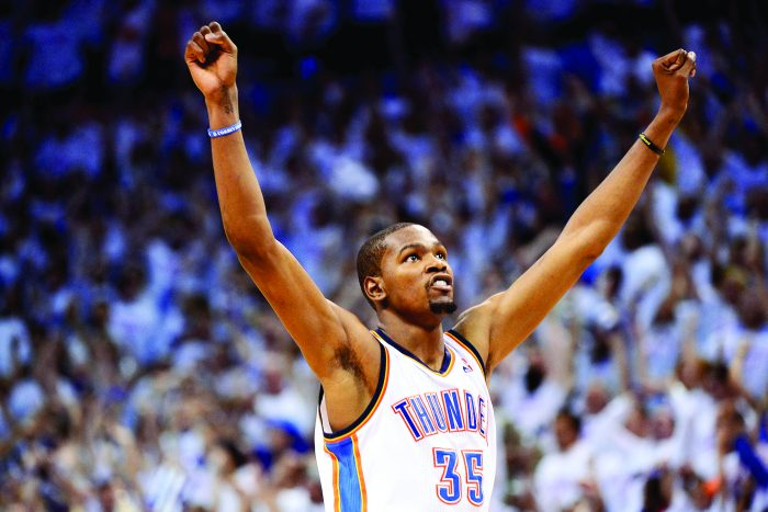 Kevin Durant has praised God for his success