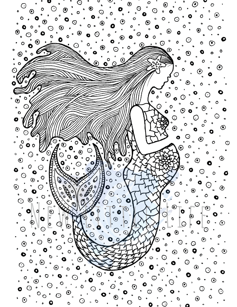 Pregnant Mermaid Breastfeeding Coloring Page New Little Life