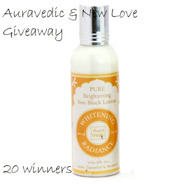 Auravedic Sun Blocks Giveaway (20 Winners)