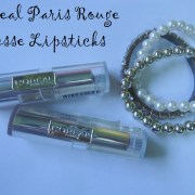 L'oreal Paris Rouge Caresse Lipsticks Review, Swatches