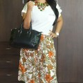 OOTD: Of Studs and Floral, White Studde Top & Floral Culottes,Indian Fashion Blog, Outfit Ideas