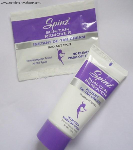 Spinz Sun-Tan Remover Instant De-Tan Cream: Review,Demo