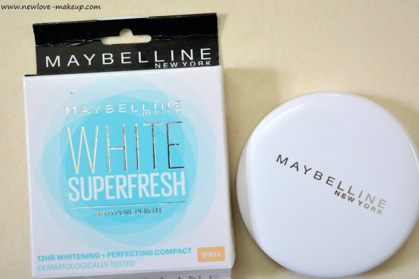 Maybelline White Super Fresh Compact Powder Shell Review, FOTD