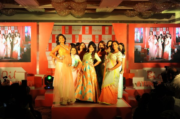 Carol Gracias, Shevta Salve along with yummy mummies shedding their inhibitions at Bio Oil Yummilicious Walk by walking the ramp with their baby bumps