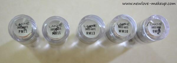 New Lakme Enrich Matte Lipsticks Review, Swatches, Indian Makeup Blog, Indian Beauty Blog, Lakme New Matte Lipsticks