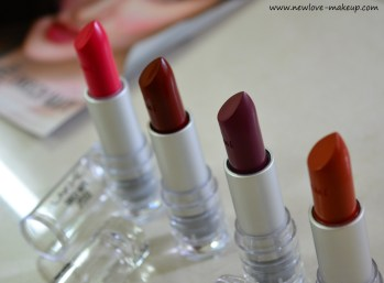 New Lakme Enrich Matte Lipsticks Review, Swatches