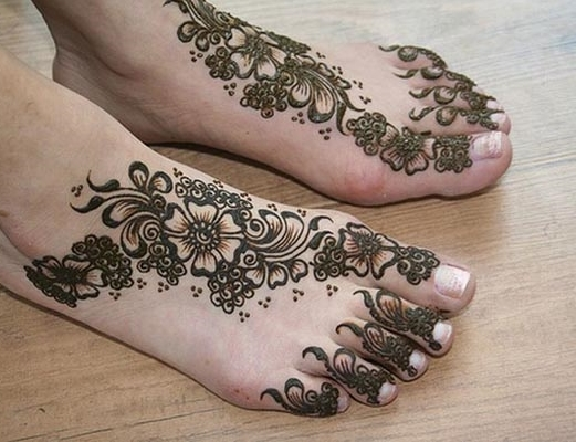 Easy Bridal Mehndi Patterns : Top bridal mehendi designs for feet