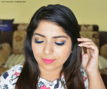 Indian Summer Makeup Tutorial | Gold Eyes and Blue Liner
