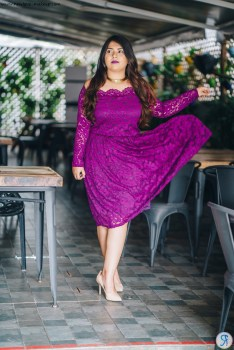 OOTD: Off Shoulder Purple Lace Dress