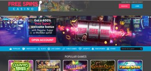 Free Spins Casino Screen