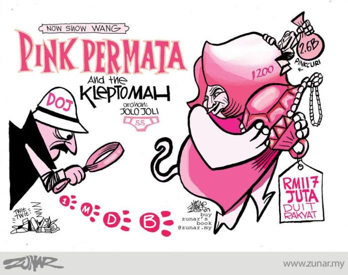 Zunar's Pink Diamond Cartoon