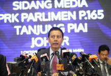Tanjung Piai Election Annoucement by EC