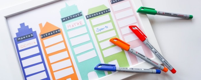 #BackToSchool:  das Stundenplan DIY