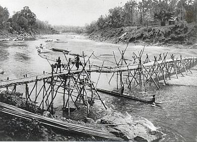 Old bridge in Luang Phrabang