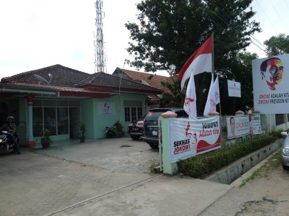 The office of the Lampung chapter Seknas Jokowi, in Bandar Lampung. Photo credit: Ward Berenschot.